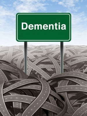 Image of the Word Dementia above criss-crossing roads